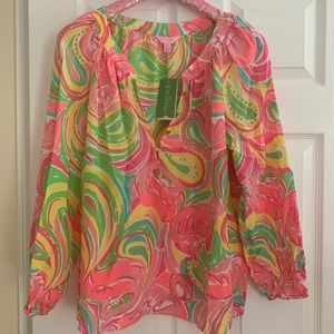 Lilly Pulitzer NWT Camille Top All Nighter Size M